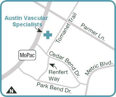 Map Directions Austin Vascular Surgeons